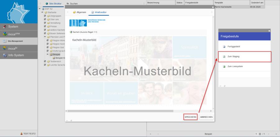 Bildserie zeigt Anleitung um eine Webseiten zu Verknüpfen und eine Datei zum Download anzubieten. (8)