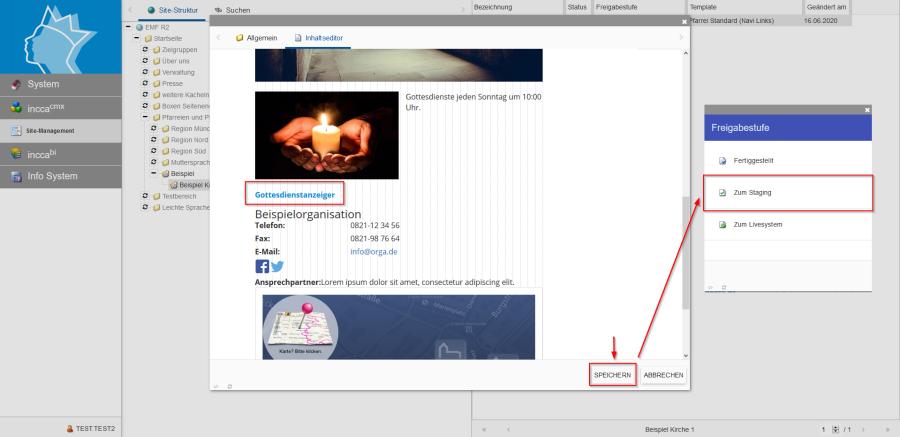 Bildserie zeigt Anleitung um eine Webseiten zu Verknüpfen und eine Datei zum Download anzubieten. (17)