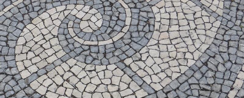 Straßenpflaster Lissabon