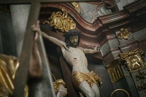 Kreuz in der Oberammergauer Pfarrkirche