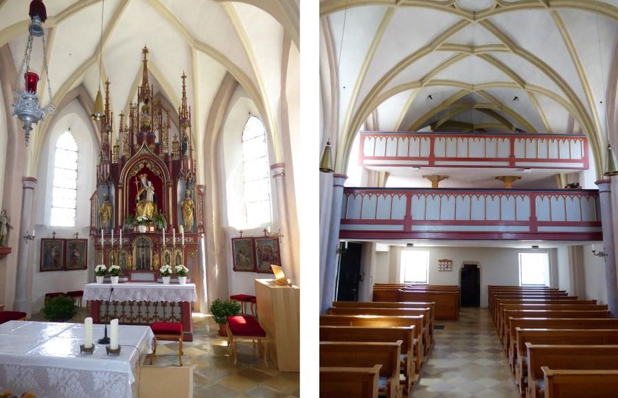Innenansicht von St. Vitus in Törring