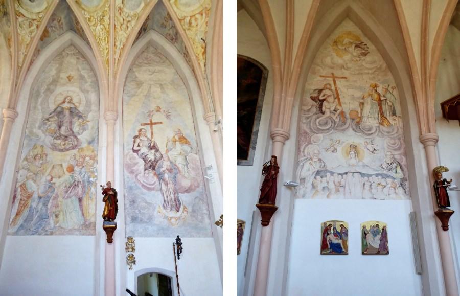 Wandgemälde in der Burger Kirche