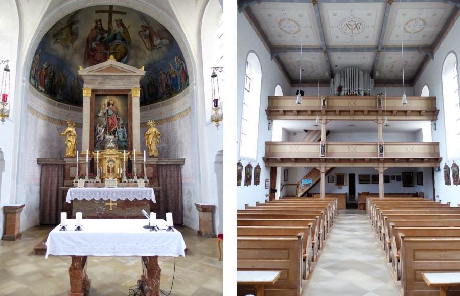 Hochaltar und Empore in Tettenhausen