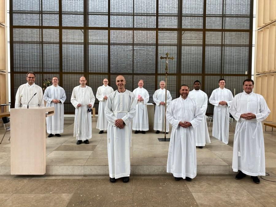 Weihekandidaten zur Diakonenweihe 2020