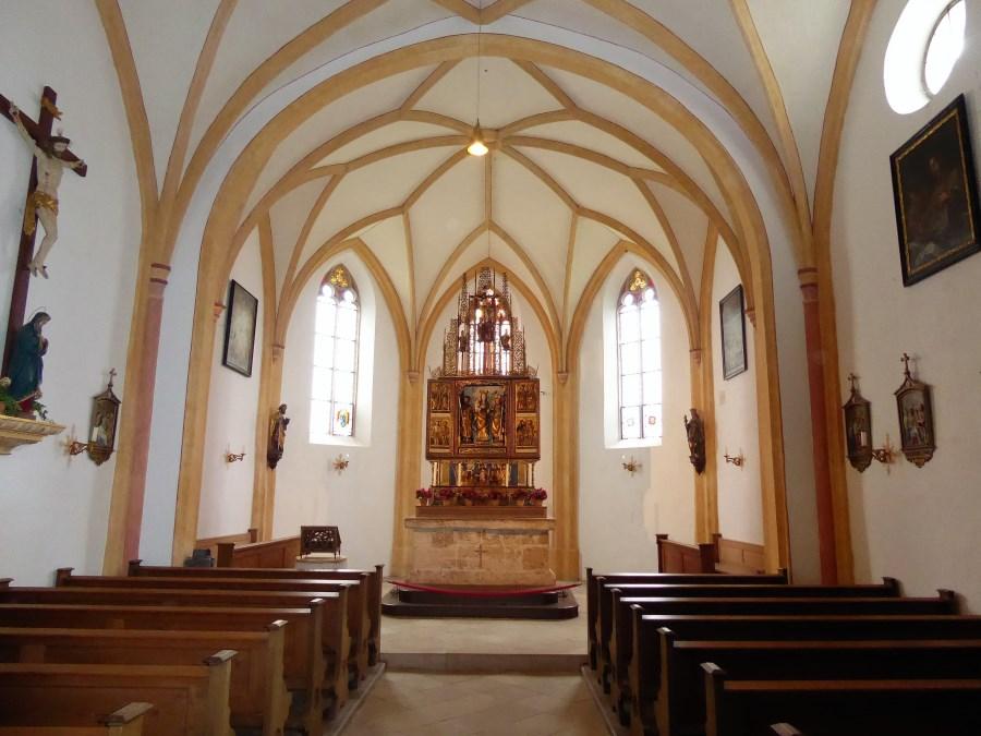 Blick in das Innere von St. Coloman