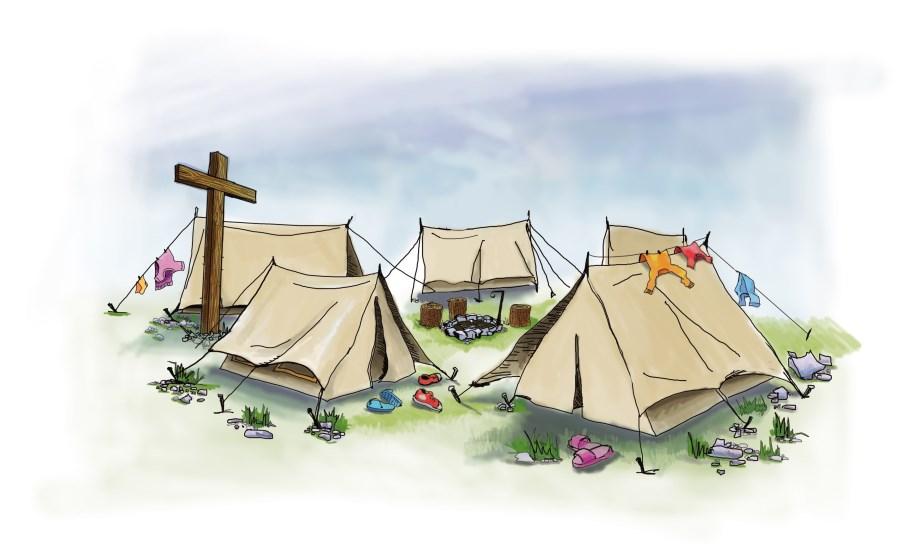 Zeichnung Zeltlager