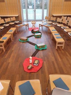 Legebild der Kinderkirche zum q. Advent