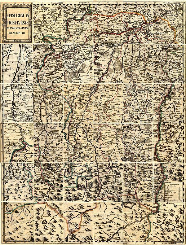 Karte Bistum Freising