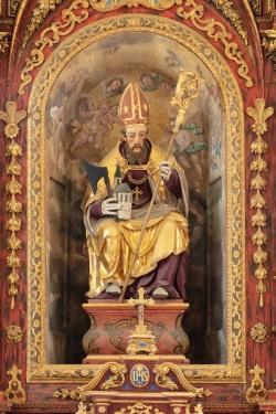 St. Wolfgang bei Altenmarkt an der Alz, Figur des Hl. Wolfgang Choraltar