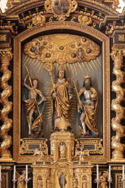 St. Wolfgang, Dorfen, Retabel Detail