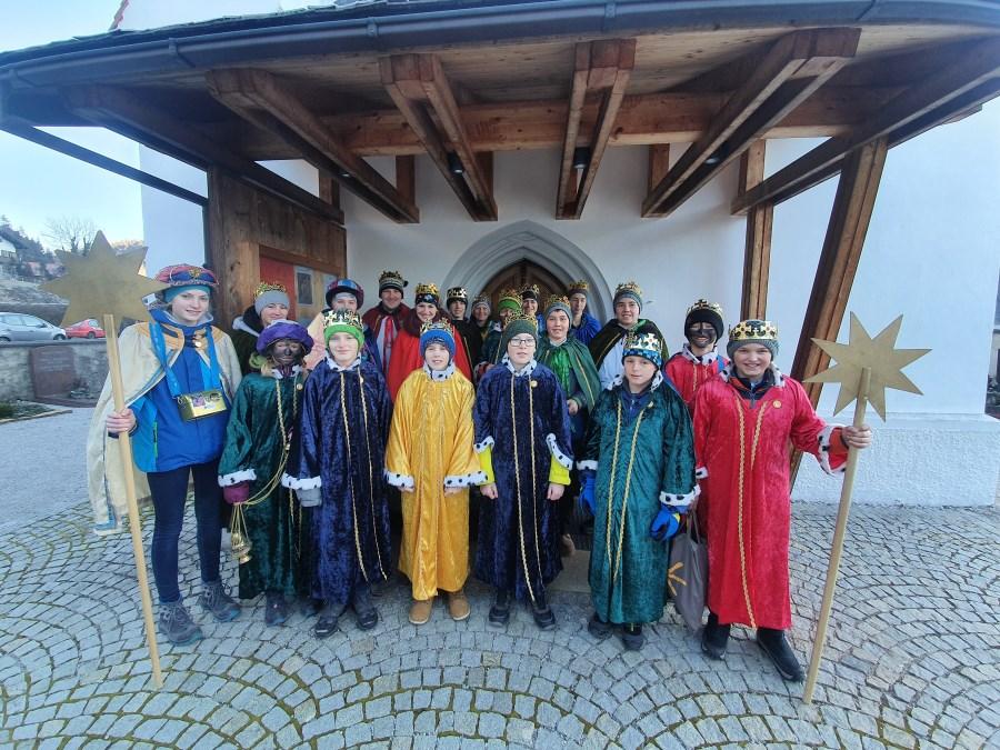 Gruppenbild Sternsinger Wallgau 2019