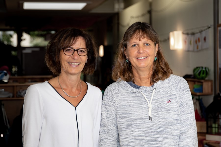 v.l. Frau Ostermeier (stellvertrende Leitung) und Frau Rupprecht (Leitung)