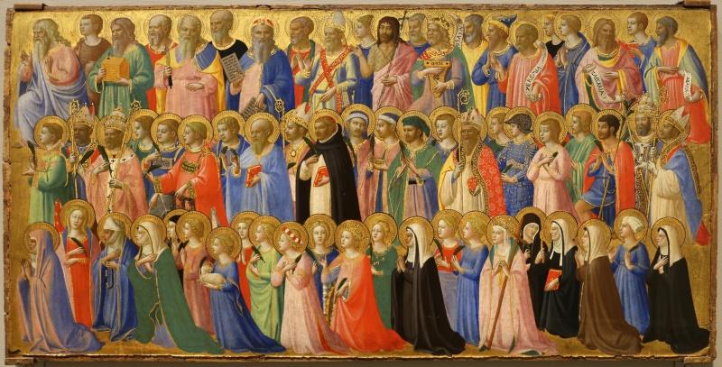 Ausschnitt aus der Predella des Hochaltars von San Domenico in Fiesole