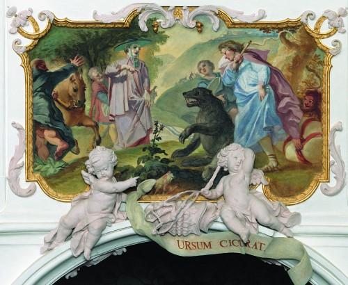 Der heilige Korbinian zähmt den Bären