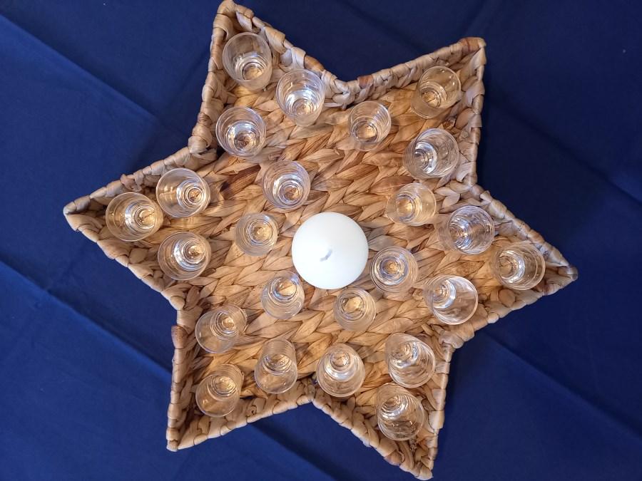 Adventskalender in Sternkorb für Kitas