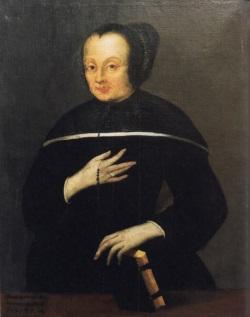Maria Anna Lindmayr als Terziarin des Karmelitenordens. Ölgemälde, 1704.