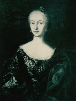 Maria Anna Petronilla von Obernberg. Foto nach einem verschollenen Ölgemälde