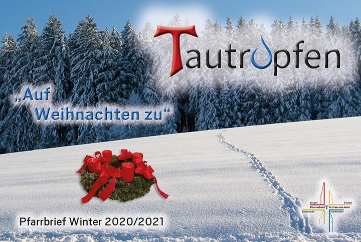Titelseite Tautropfen Advent 2020