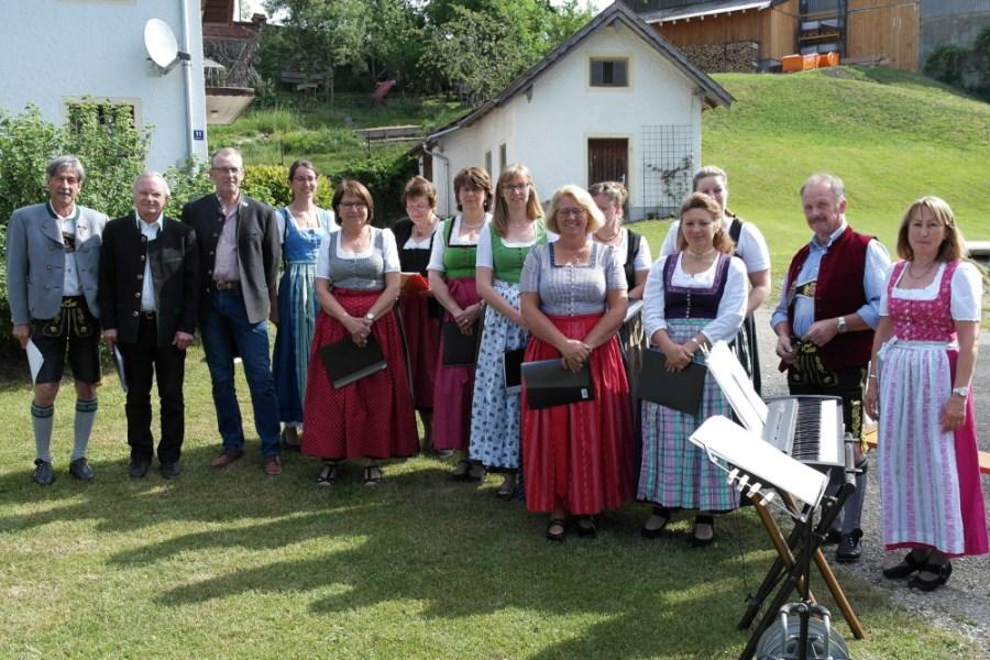 Gruppenbild des Lampferdinger Kirchenchores