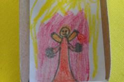 Von Kinderhand gezeichneter Engel