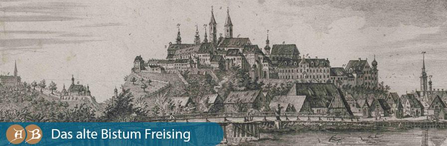 Grafik Das alte Bistum Freising