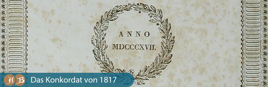 Grafik Das Konkordat von 1817