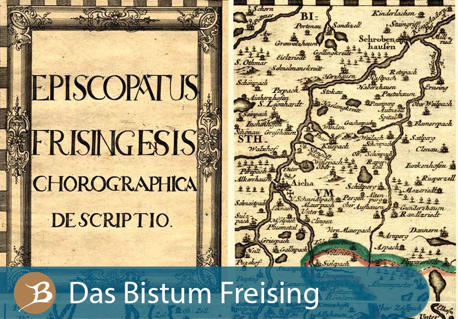 Grafik Das Bistum Freising