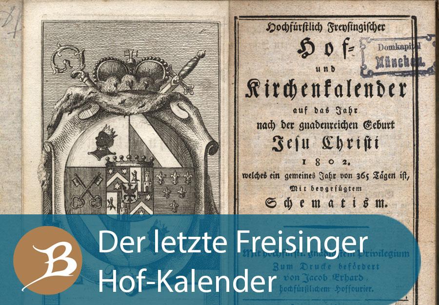 Grafik Der letzte Freisinger Hof-Kalender