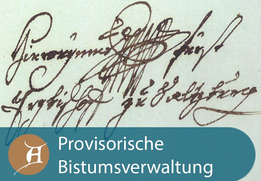 Grafik Provisorische Bistumsverwaltung