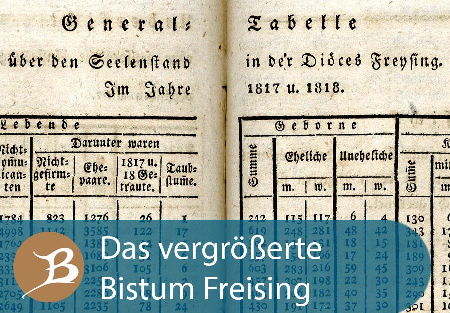 Grafik Das vergrößerte Bistum Freising