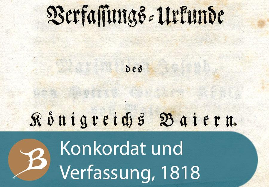 Grafik Konkordat und Verfassung 1818