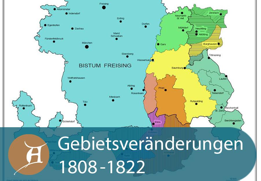 Grafik Gebietsveränderungen 1808 bis 1822