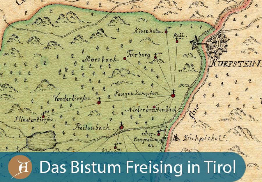 Grafik Das Bistum Freising in Tirol