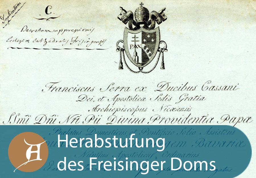 Grafik Herabstufung des Freisinger Doms