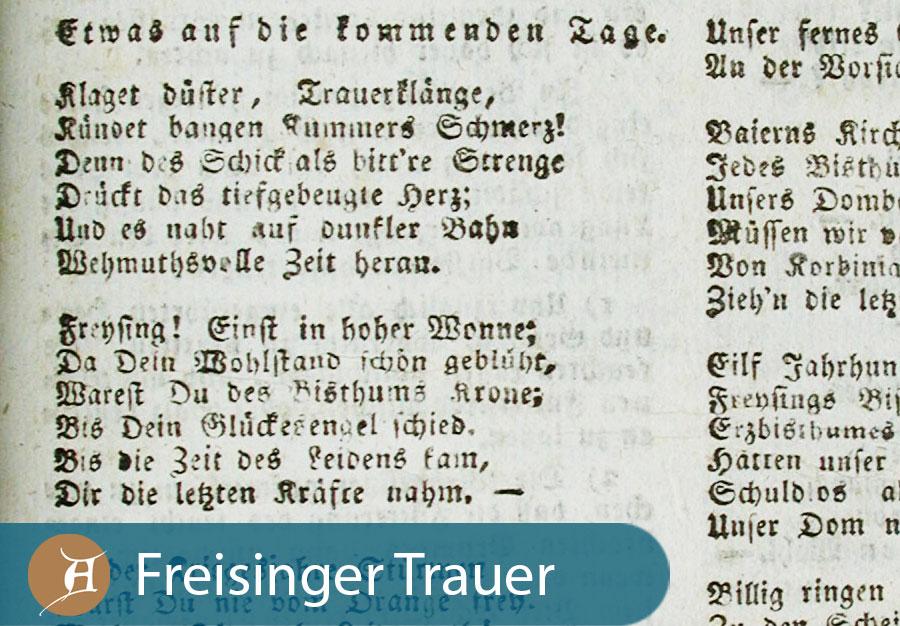 Grafik Freisinger Trauer