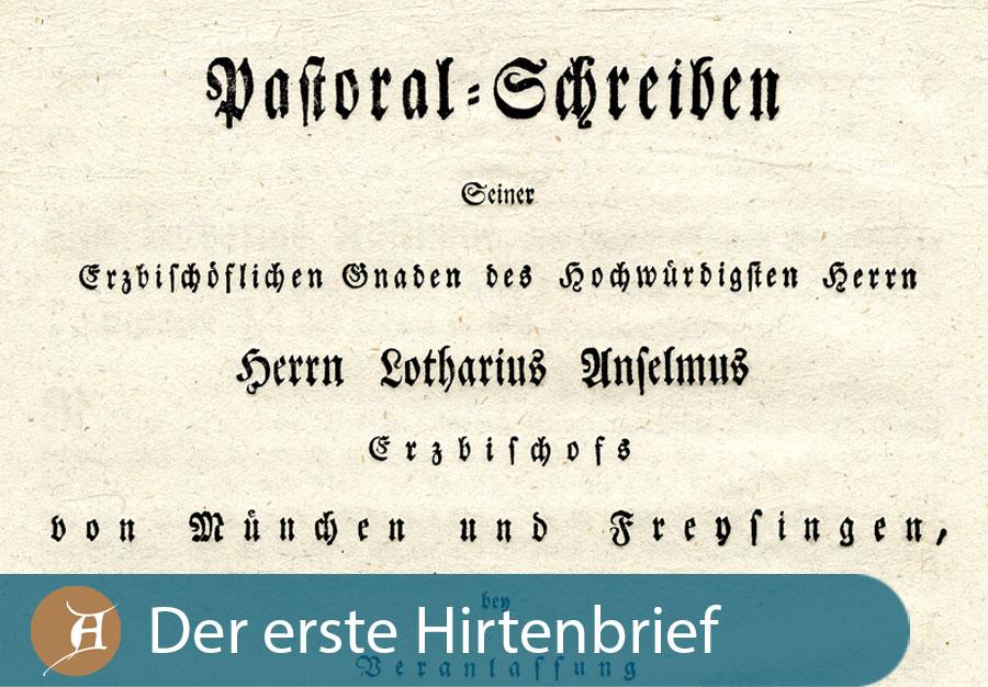 Grafik der erste Hirtenbrief