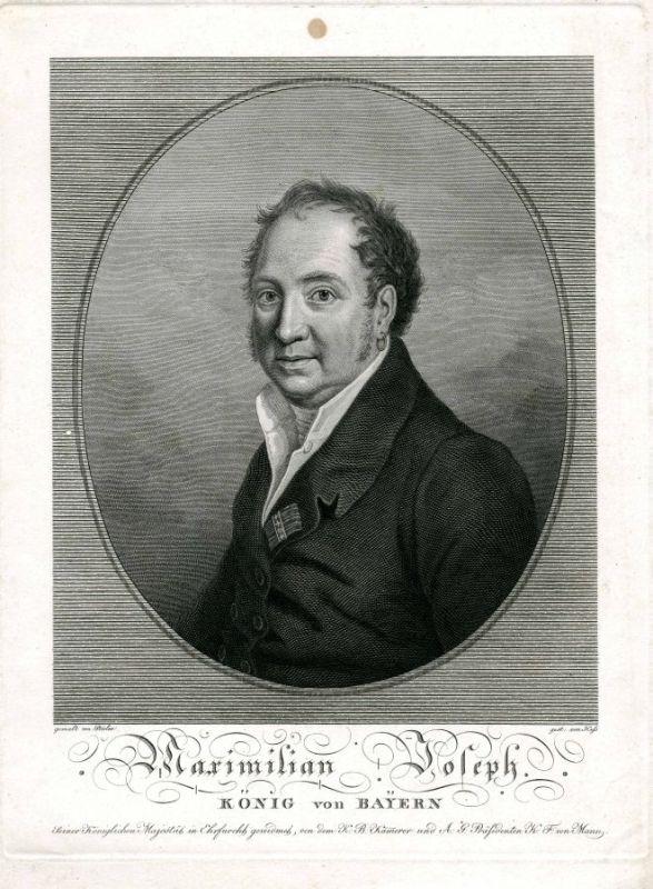 Kupferstich von Karl Ernst Heß nach einem Gemälde von Joseph Stieler (1814)