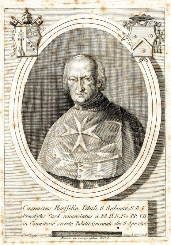 Kupferstich von Gioacchino Lepri nach Francesco Giangiacomo, 1818