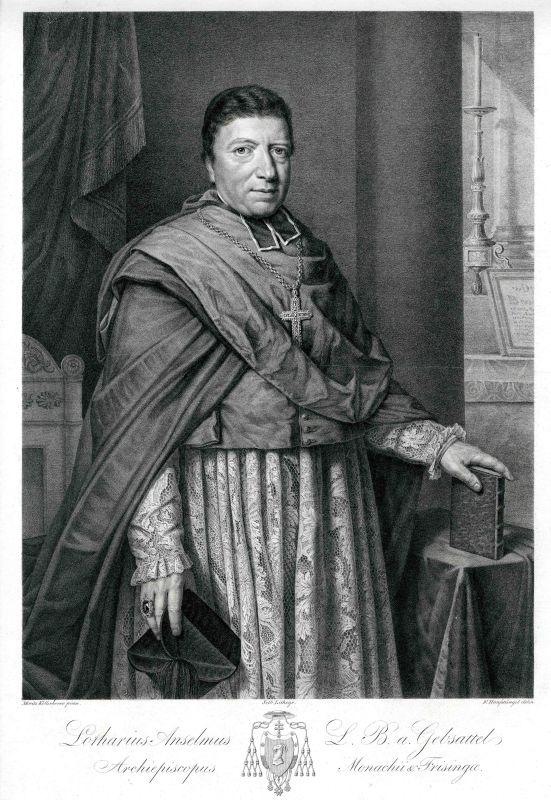 Lithografie von Franz Hanfstengl nach einem Gemälde von Moritz von Kellerhoven