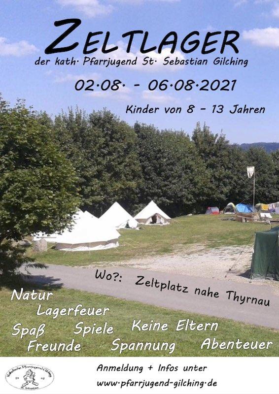 Flyer Zeltlager 2021