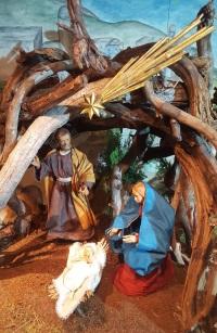 Heilige Familie im Stall