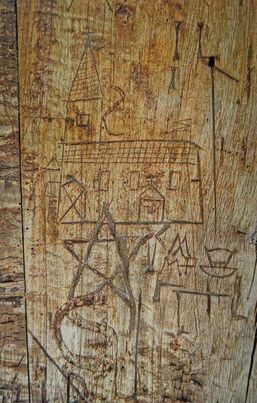 Ritzzeichnungen St. Koloman bei Fridolfing