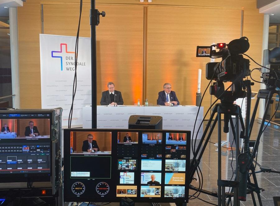 Online-Konferenz des Synodalen Weges im Februar 2021