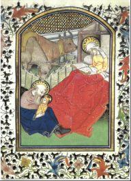 Hl. Josef, Buchmalerei, 15. Jhdt