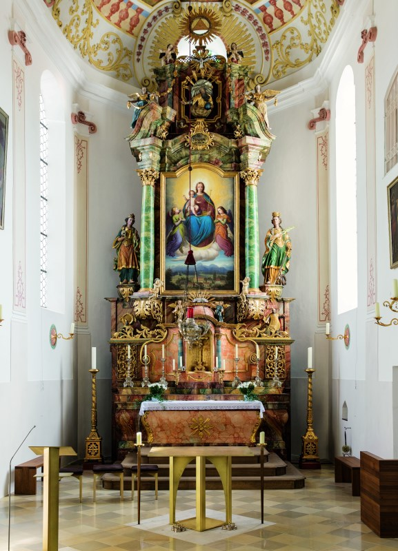 Hochaltar von der Pfarrkirche Schönau