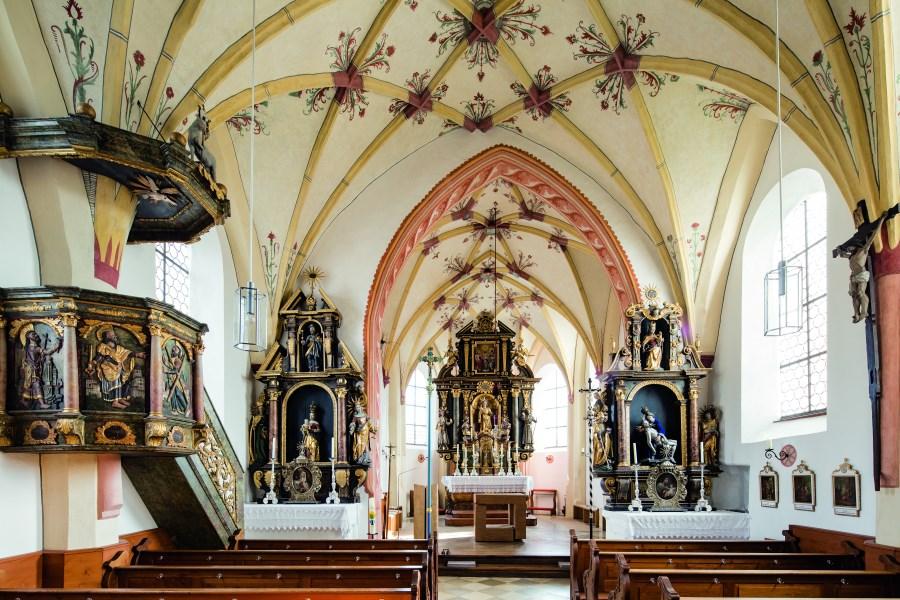 Innenansicht von der Fililalkirche Hohenthann