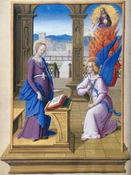 Verkündigung des Herrn<br/>Darstellung im Stundenbuch Heinrichs VIII., ca. 1500