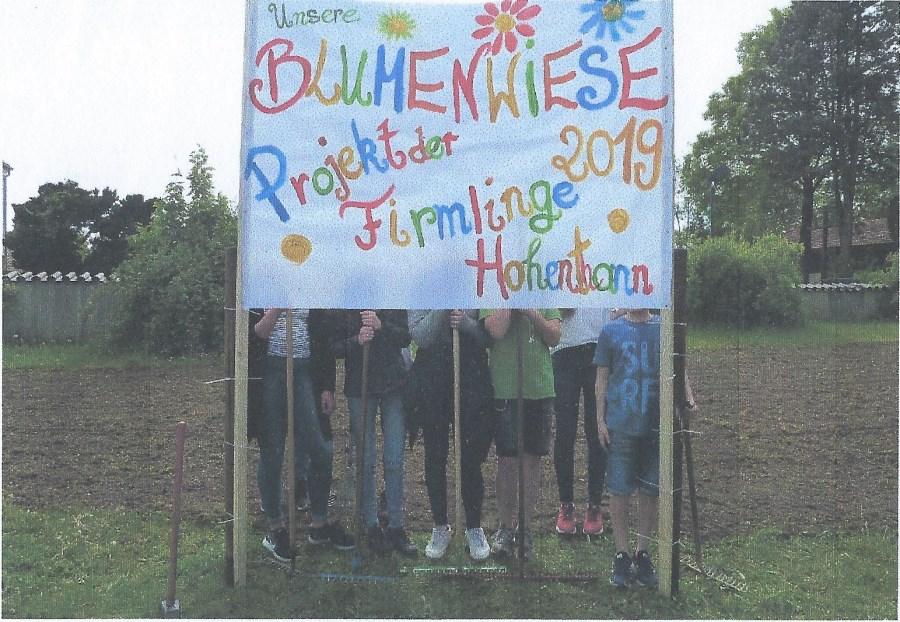 Firmlingsaktion 2019 Blumenwiese