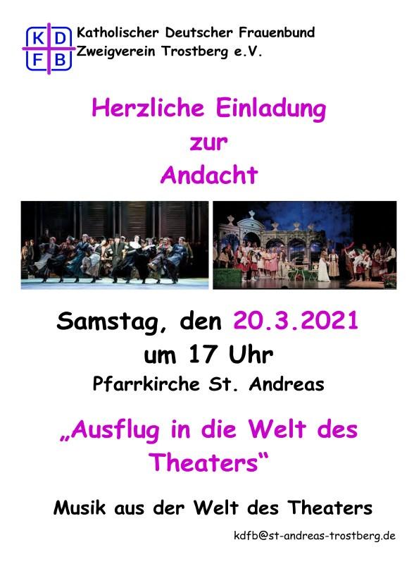 KDFB Trostberg  Ausflug in die Theaterwelt