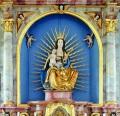 Das spätgotische Gnadenbild der Muttergottes im Hochaltar
